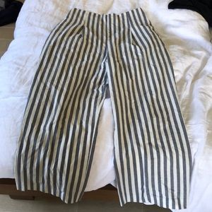 Zara | Striped High Waisted Trousers